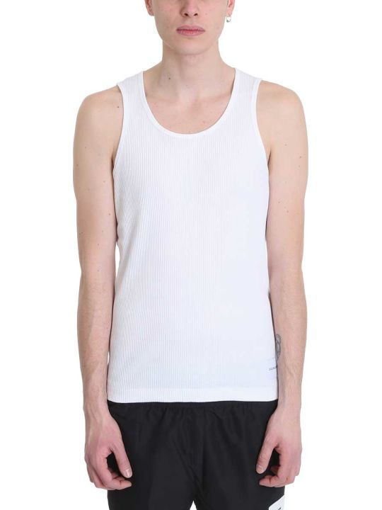 Calvin Klein Jeans White Cotton Tank Top