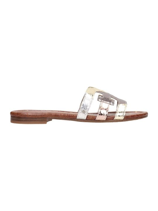 Sam Edelman Silver Laminated Leather Bay Sandals