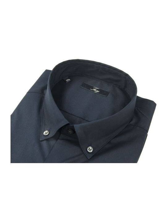 Fay Blue Cotton Shirt