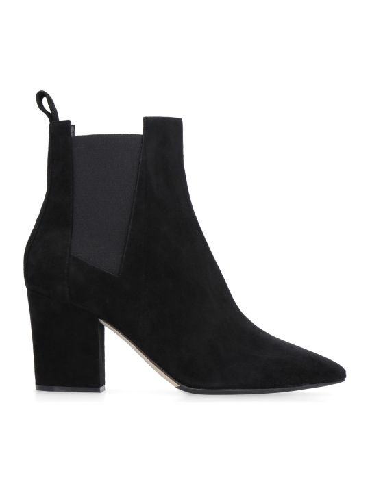 Sergio Rossi Sergio Suede Pointy-toe Ankle Boots