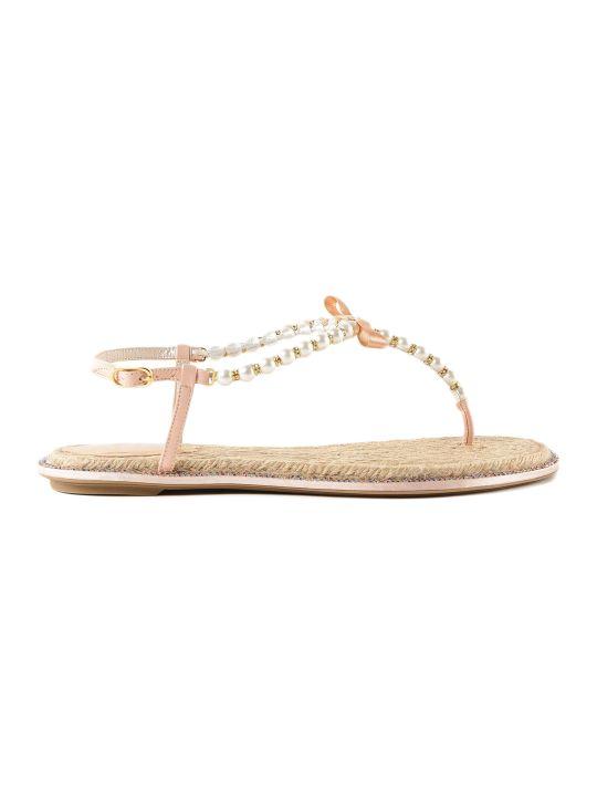 René Caovilla Rene Caovilla Thong Mix Strass Flat Sandals