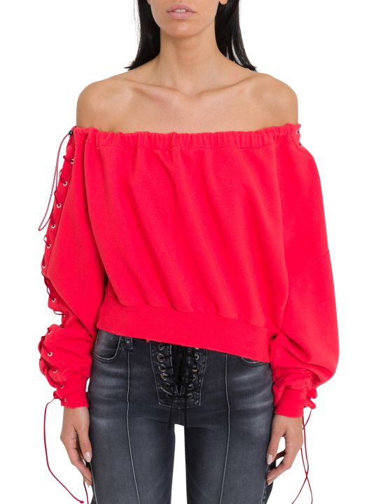 Ben Taverniti Unravel Project Off-the-shoulder Sweatshirt