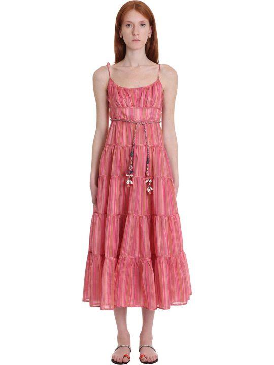 Zimmermann Dress In Rose-pink Cotton