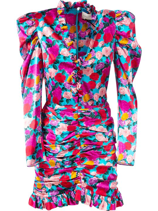 Giuseppe di Morabito Floral Print Long-sleeved Short Dress