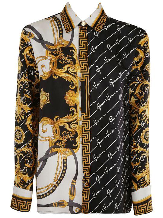 Versace Logo Printed Shirt