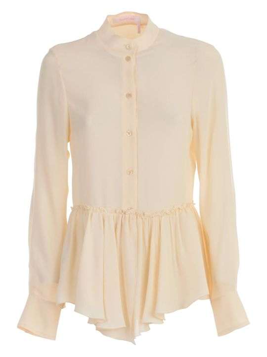 See by Chloé Shirt L/s Round Neck W/flounce