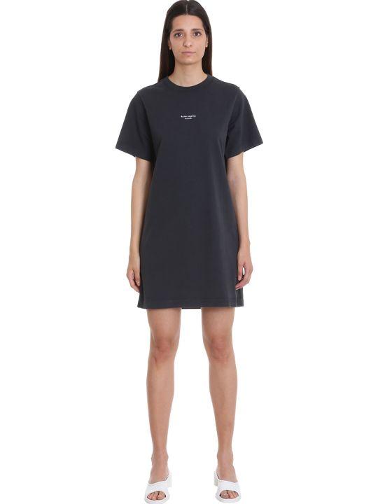 Acne Studios Elleni Stamp Dress In Black Cotton