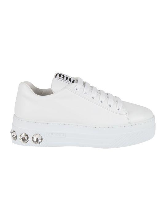 Miu Miu Back Embellished Detail Sneakers