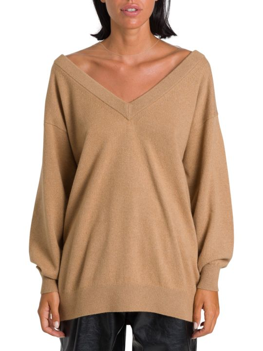 Alexander Wang Oversize Pullover With Sheer Yoke