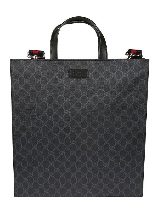 Gucci Logo Print Shopper Bag