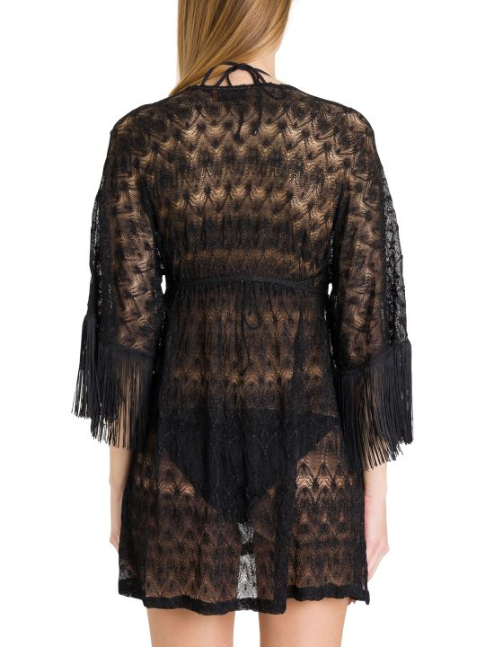 Missoni Knitted Dress With Fringed Sleeves