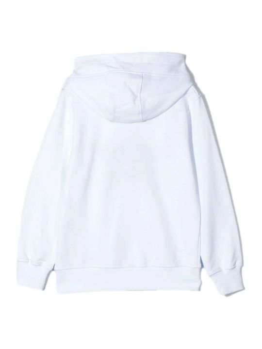 Neil Barrett White Cotton Hoodie