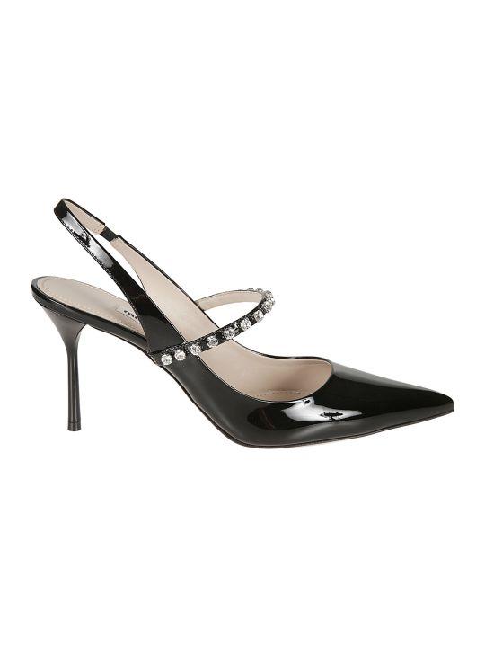 Miu Miu Embellished Ankle Strap Pumps