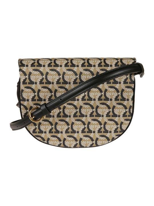Salvatore Ferragamo Logo Print Shoulder Bag