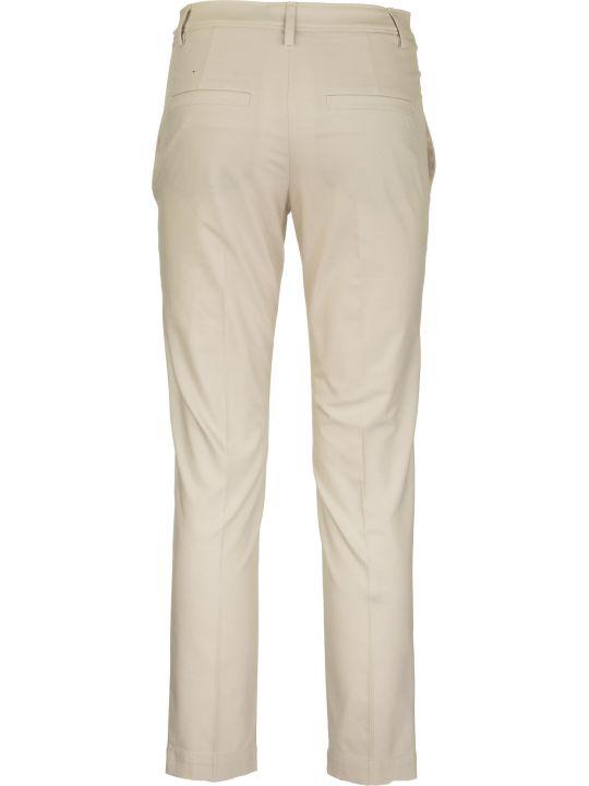 Brunello Cucinelli Twisted Stretch Cotton Twill Boy Fit Cigarette Trousers