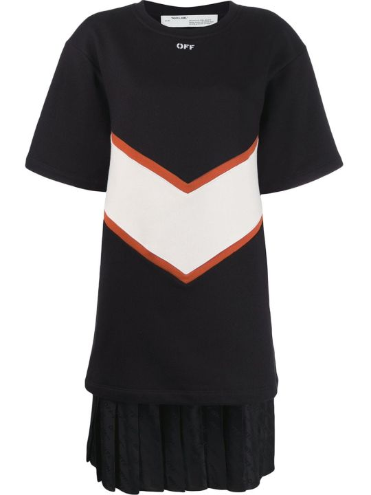 Off-White Intarsia Sweatshirt Dress