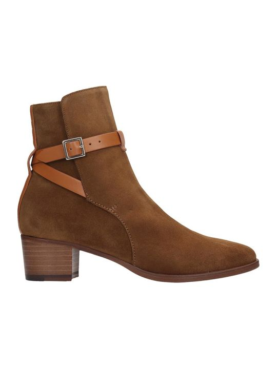 L'Autre Chose Ankle Boots In Leather Color Suede