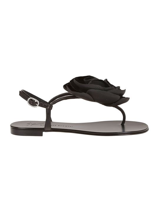 Giuseppe Zanotti Flower Flat Sandals