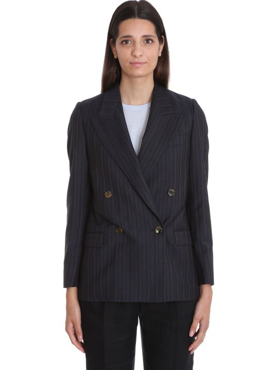 Acne Studios Janny Blazer In Blue Wool