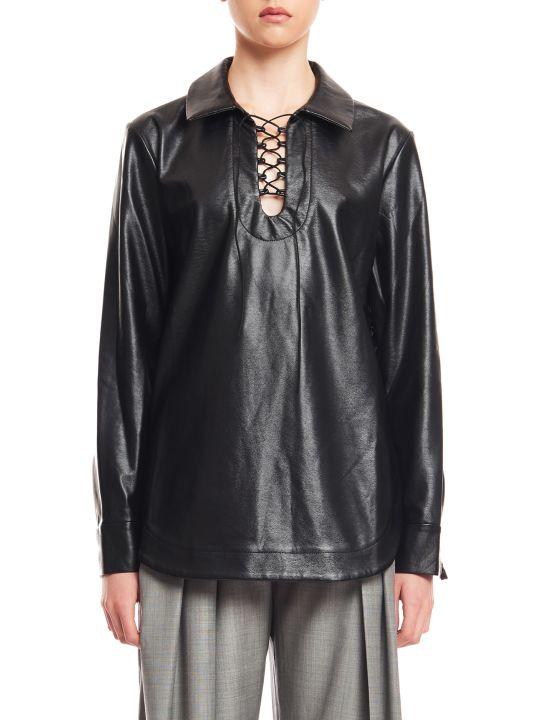 MATÉRIEL Lace Up Leather Shirt