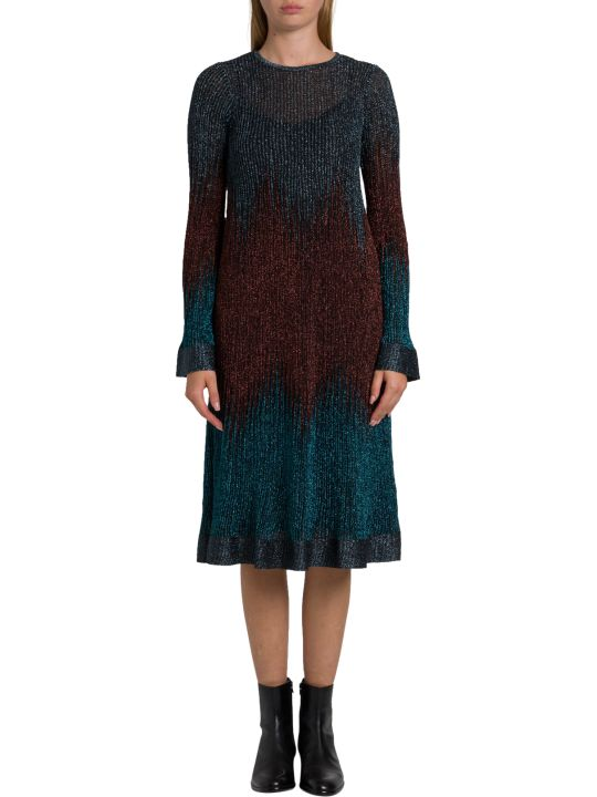 M Missoni Midi Dress In Gradient Lurex Knit