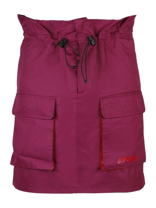 HERON PRESTON Paper-bag Waist Skirt