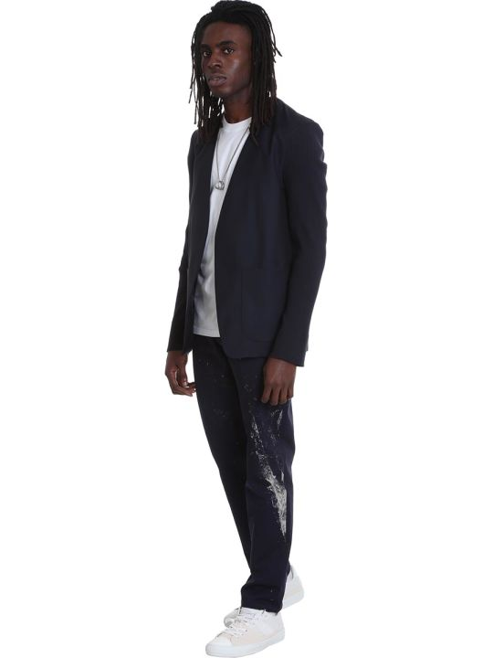 Maison Margiela Pants In Blue Cotton