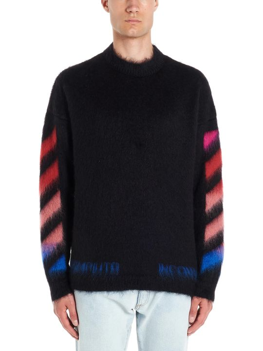 Off-White 'diagonal Brushed Mohair' Sweater