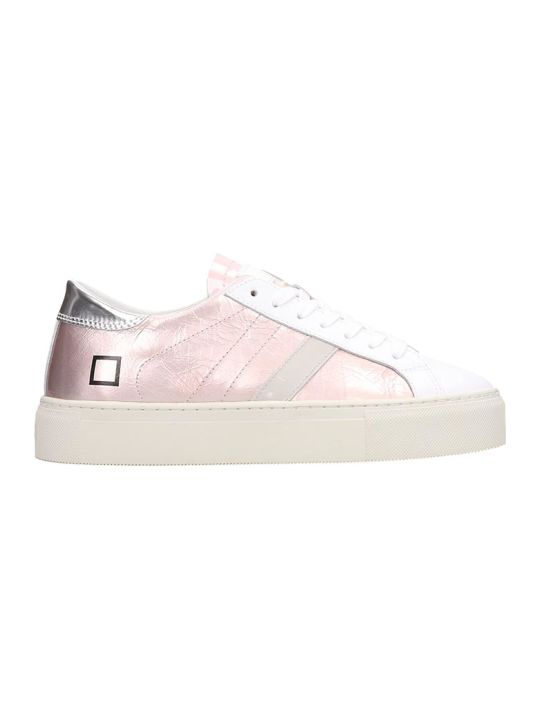 D.A.T.E. Laminated Leather Pink Vertigo Sneakers
