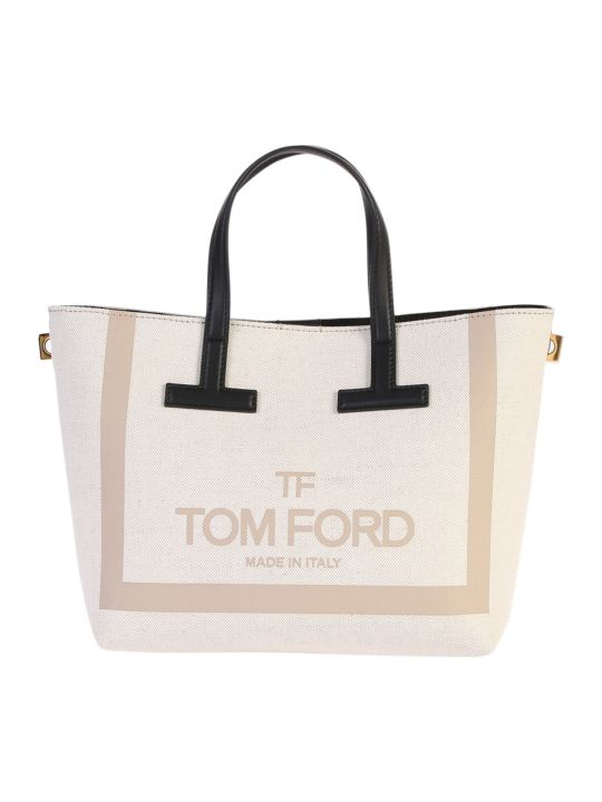 Tom Ford Canvas And Leather Tote Bag