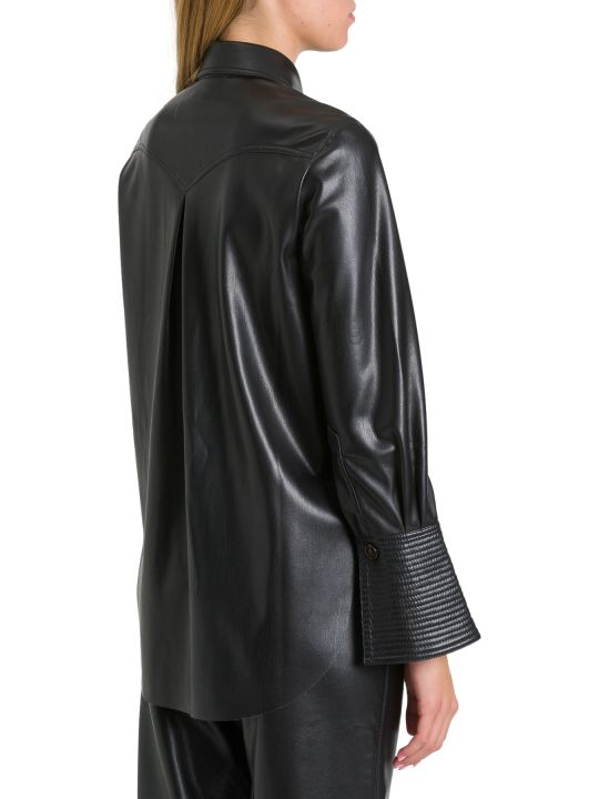 Nanushka Elpi Shirt In Vegan Leather
