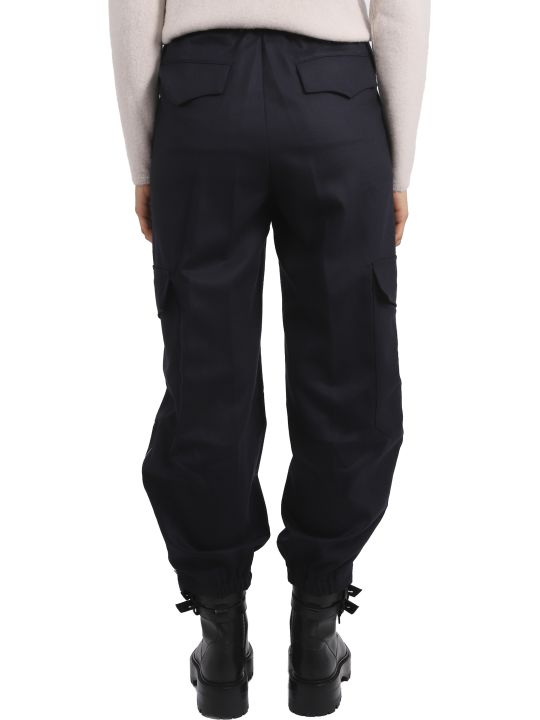 Barena Navy Cargo Frare Trousers