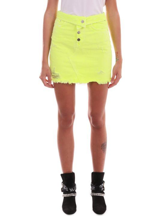 AMIRI Neon Yellow Skirt