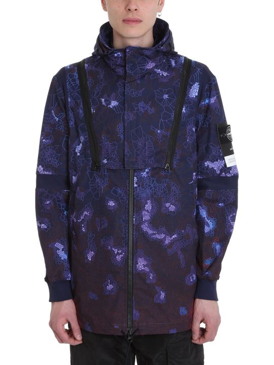 Stone Island Purple Polyester Jacket