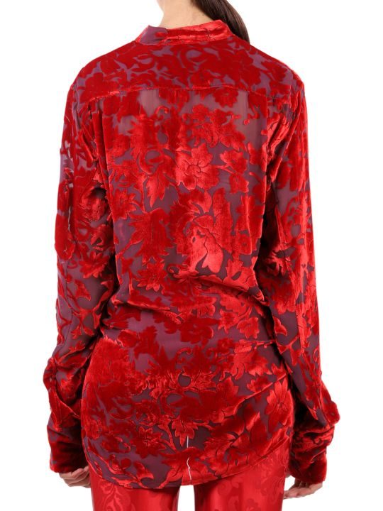 Ann Demeulemeester Red Shirt