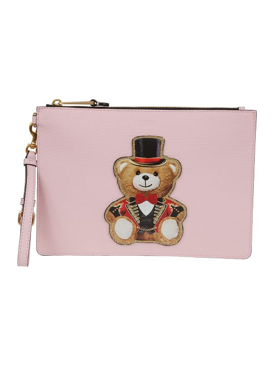 Moschino Teddy Print Clutch