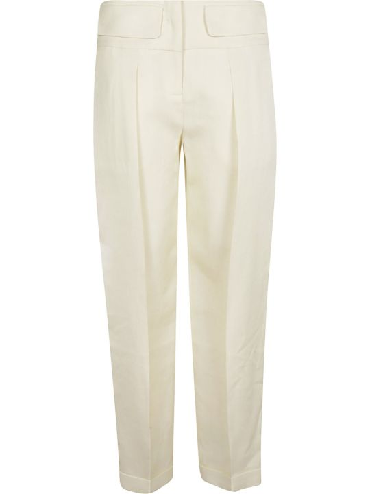 Victoria Beckham Pleated Crepe Trousers