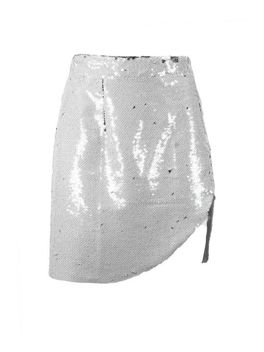 Amen Silver-tone Sequin Skirt