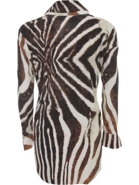 La Petit Robe Di Chiara Boni Printed Shirt L/s V Neck