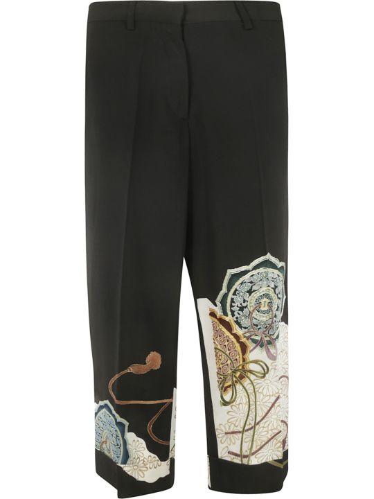 Ibrigu Floral Print Detail Trousers
