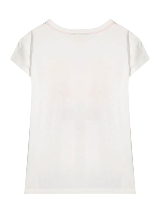 Fendi White Teen T-shirt With Multicolor Press