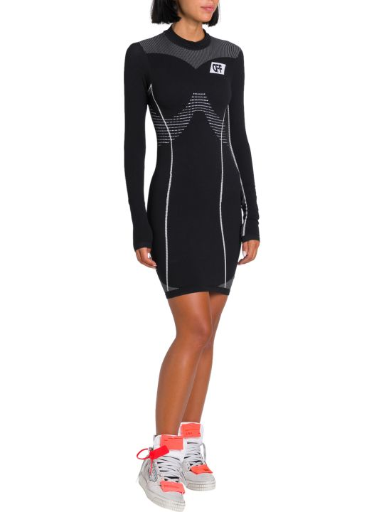 Off-White Athletic Graphic-logo Stretch-jersey Mini Dress