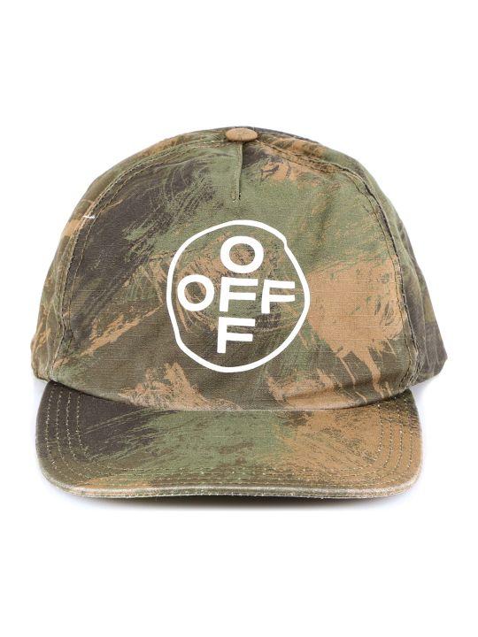 Off-White Paintbrush Camouflage Cap