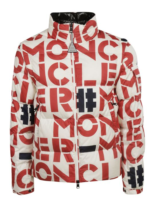 Moncler Logo Print Padded Jacket