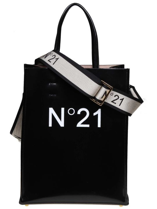 N.21 N ° 21 Black Color Shopping Bag With Logo