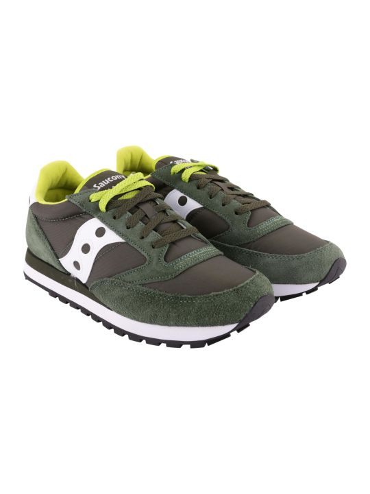 Saucony Jazz Original Nylon And Suede Sneakers