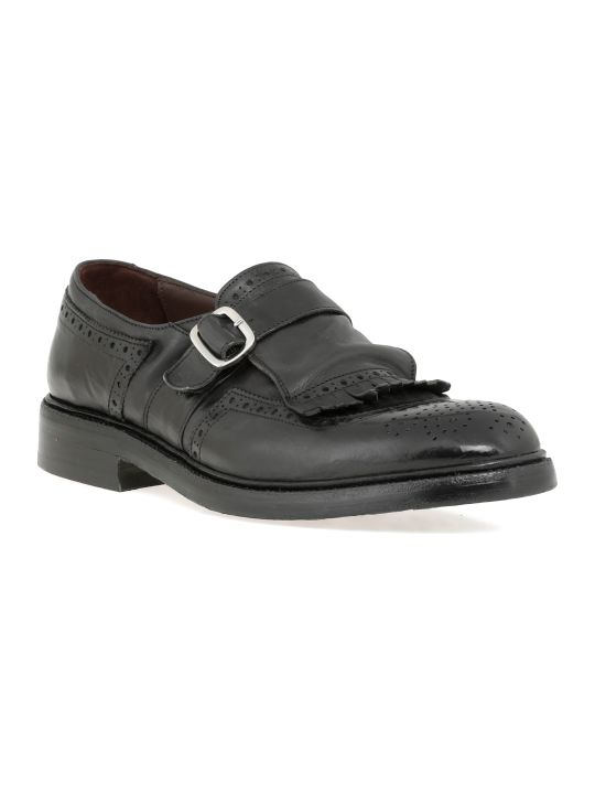 Green George Monk Strap Shoes