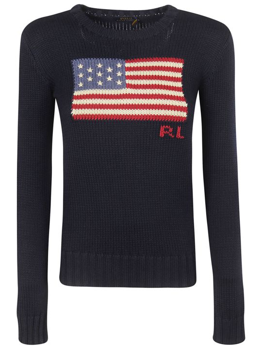 Ralph Lauren American Flag Sweater