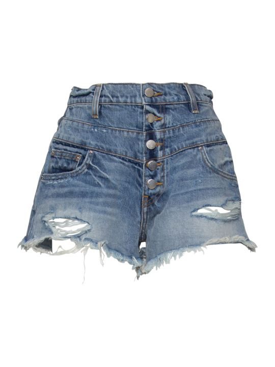 AMIRI High-waisted Distressed Denim Shorts