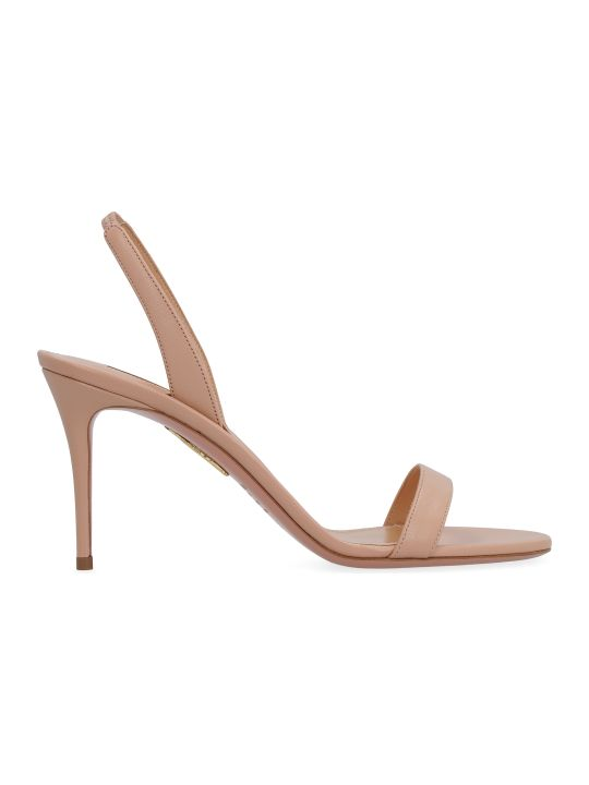 Aquazzura So Nude Leather Sandals